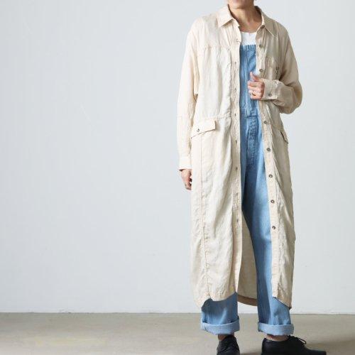 TICCA (ティッカ) フレアシャツ ロングシャツワンピース