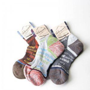 and wander (アンドワンダー) and wander socks / アンドワンダーソックス