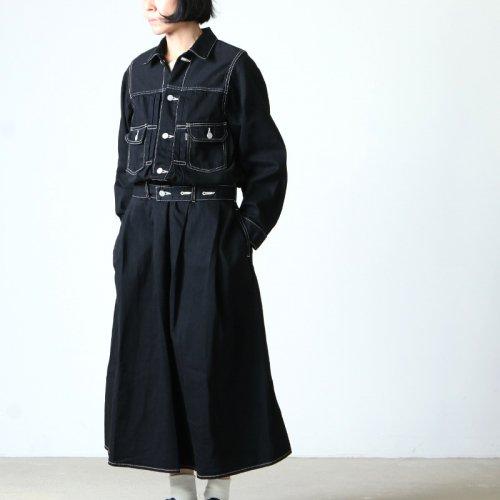Graphpaper (グラフペーパー) Belted Denim Dress / ベルテッドデニムドレス