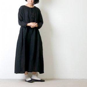 Vlas blomme (ヴラスブラム) コルトレイクリネン ギャザードレス