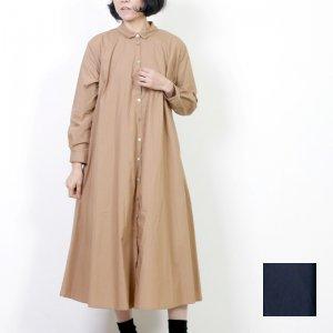 ina (イナ) チビ襟フレアシャツコートワンピース