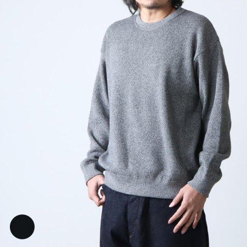 crepuscule (クレプスキュール) stone wash moss stitch pullover / ストーンウォッシュモススティッチプルオーバー