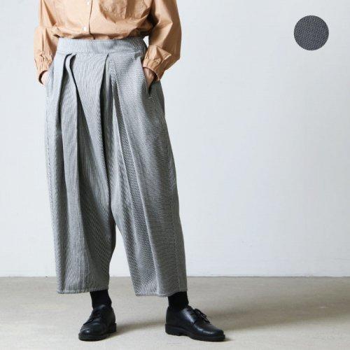 FACTORY (ファクトリー) 綿 刺子織 タックバルーンパンツ