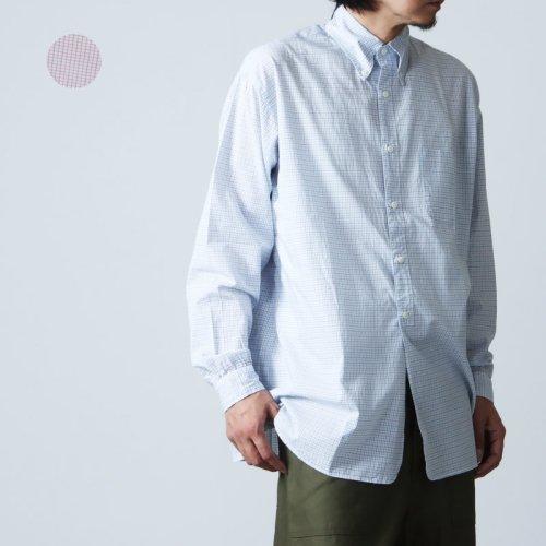 nisica (ニシカ) ネルチェックガンジーシャツ