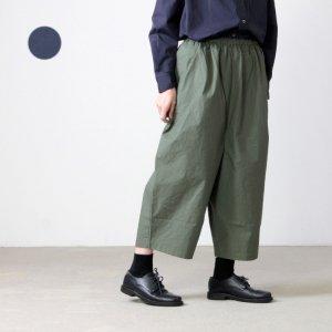 style + confort (スティールエコンフォール) コットンウールツイル ワイドパンツ