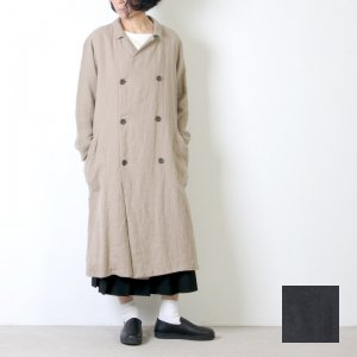 ICHI Antiquites (イチアンティークス) リネンウール ダブルジャケットコート