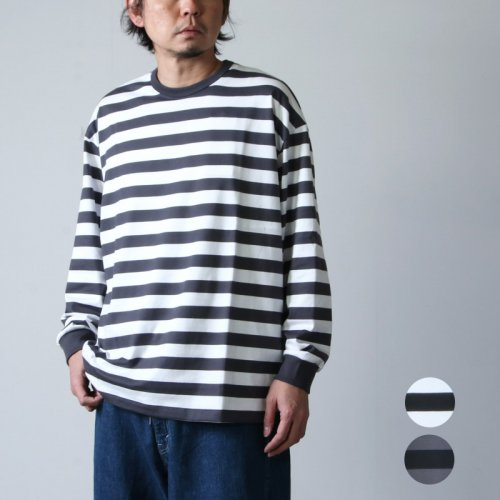 Graphpaper (グラフペーパー) Boader L/S Tee / ボーダーロングスリーブT