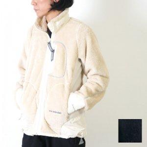 and wander (アンドワンダー) high loft fleece jacket for woman / ハイロフトフリースジャケット レディース