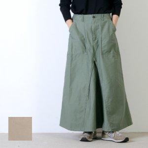 [THANK SOLD] kha:ki (カーキ) REMAKE BAKER SKIRT / リメイクベイカースカート