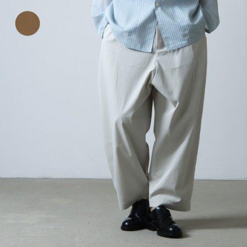 STUDIO NICHOLSON (スタジオニコルソン) MENS STAND COLLAR SHIRT COTTON POPLIN / メンズスタンドカラーシャツ コットンポプリン