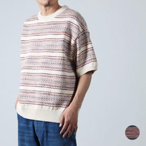 [THANK SOLD] crepuscule (クレプスキュール) links knit pullover / リンクスニットプルオーバー