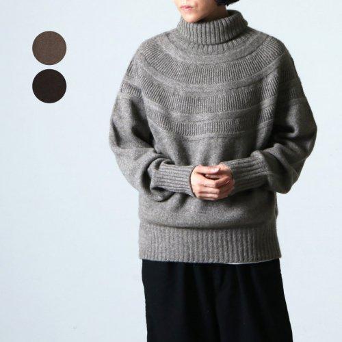 FACTORY (ファクトリー) レース柄 オフタートルセーター