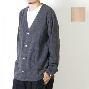 LOLO (ロロ) 起毛シャンブレー Bagポケット カーデシャツ