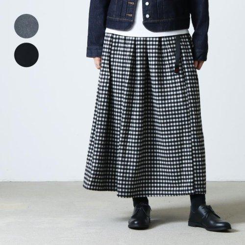 GRAMICCI (グラミチ) WOOL BLEND LONG FLARE SKIRT / ウールブレンド ロングフレアスカート
