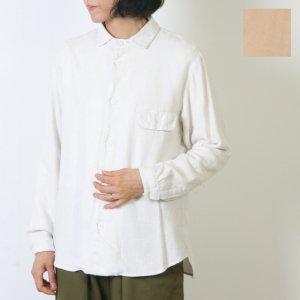 LOLO (ロロ) 起毛シャンブレー ステッチ無しシャツ size:S