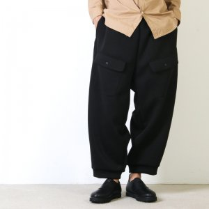 [THANK SOLD] roundabout (ラウンダバウト) Double Knit Wide Easy Pants / ダブルニットワイドイージーパンツ