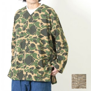 South2 West8 (サウスツーウエストエイト) V Neck Army Shirt - Printed Flannel / Camouflage / Vネック アーミーシャツ