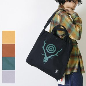 [THANK SOLD] South2 West8 (サウスツーウエストエイト) Grocery Bag - Skull & Target / グロサリーバッグ
