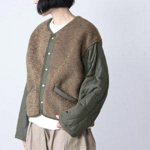 kha:ki (カーキ) ボアキルトジャケット