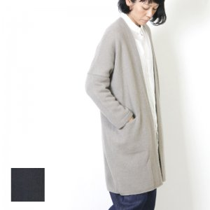 evameva (エヴァムエヴァ) Wool cachmere robe / ウールカシミア ローブ