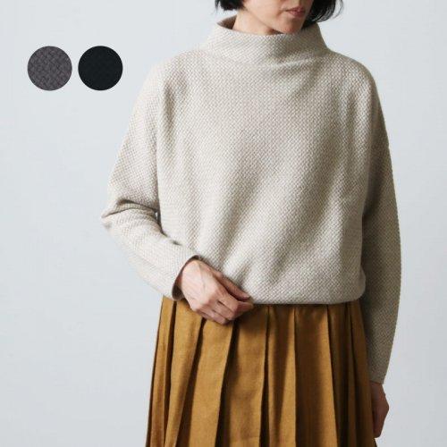 evameva (エヴァムエヴァ) Brushed high necked pullover / ブラッシュ ハイネック プルオーバー