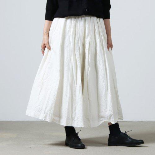 YAECA (ヤエカ) WRITE TUCK CULOTTE / ライトタックキュロット