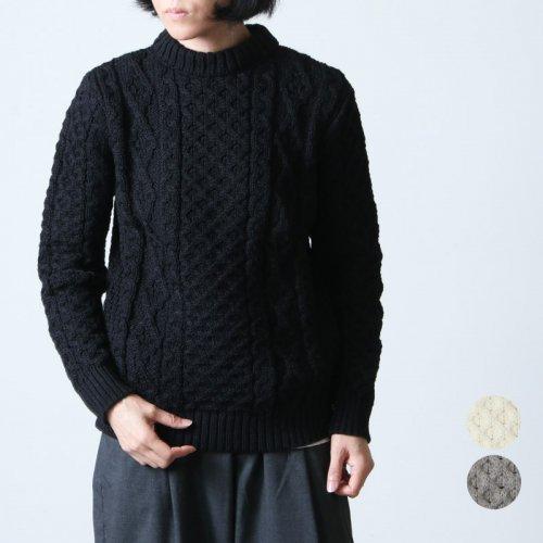 Kerry Woollen Mills (ケリーウーレンミルズ) Aran Cable Crew Neck #Women / アランケーブルクルーネックセーター