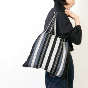 [THANK SOLD] pips (ピップス) HAMMOCK BAG  black stripe / ハンモックバッグブラックストライプ