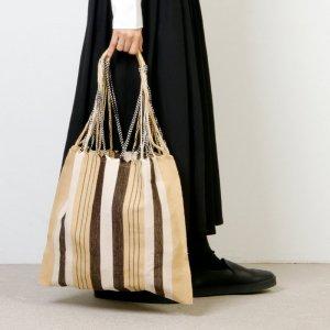 pips (ピップス) HAMMOCK BAG  beige stripe / ハンモックバッグベージュストライプ