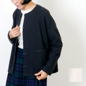 evameva (エヴァムエヴァ) Flannel cotton square cardigan / フランネルコットン スクエアカーディガン