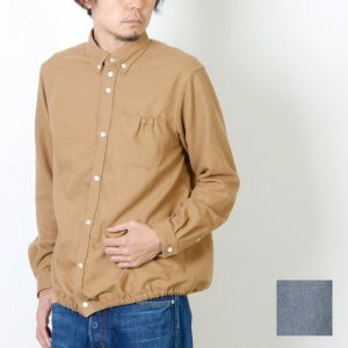 nisica (ニシカ) シャーリングボタンダウンシャツ