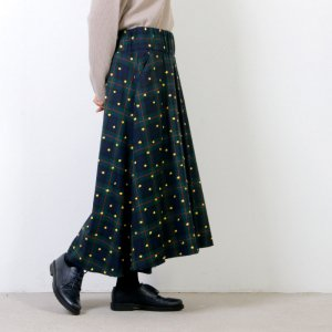 [THANK SOLD] si-si-si (スースースー) CHECK & EMBROIDERY ロングスカート