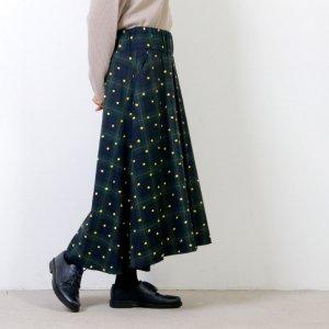 si-si-si (スースースー) CHECK & EMBROIDERY ロングスカート