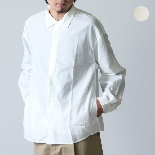 YAECA (ヤエカ) COMFORT SHIRT EXTRA WIDE WOOL BROWN / コンフォートシャツ エクストラワイド ウールブラウン