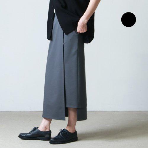 Graphpaper (グラフペーパー) Compact Ponte Wrap Skirt / コンパクトポンチラップスカート
