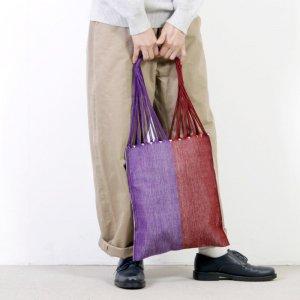 pips (ピップス) HAMMOCK BAG brown purple bicolor / ハンモックバッグブラウンパープルバイカラー