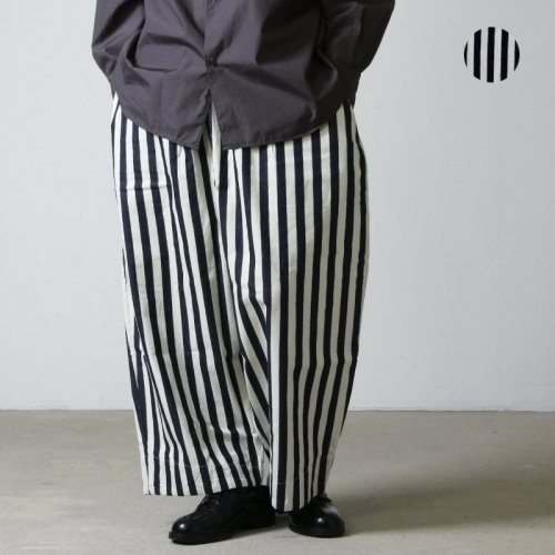 have a good day (ハブアグッドデイ) Stripe volume pants For Men / ストライプボリュームパンツ