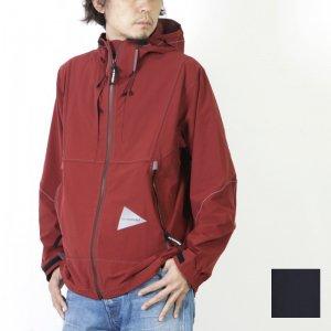 and wander (アンドワンダー) nylon stretch jacket for man / ナイロンストレッチジャケット メンズ