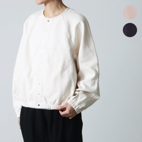 unfil (アンフィル) paper cotton terry zip hoodie / ペーパーコットンテリージップフーディー