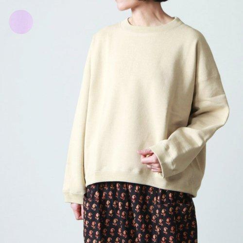 unfil (アンフィル) paper cotton terry sweatshirt / ペーパーコットンテリースウェットシャツ