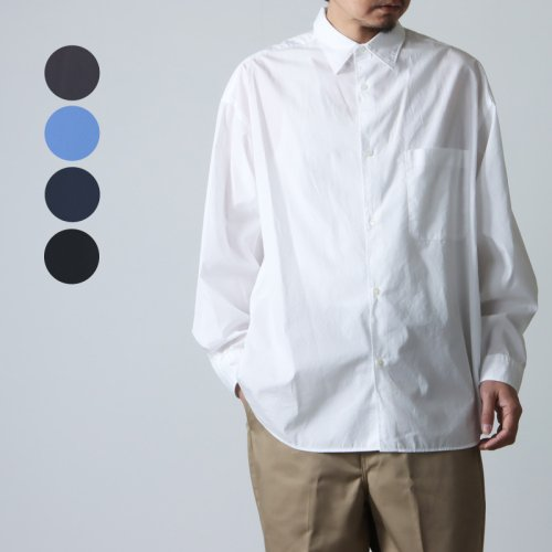 Graphpaper (グラフペーパー) Broad L/S Oversized Regular Collar Shirt / ブロードロングスリーブオーバーサイズドレギュラーシャツ