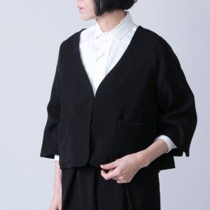 whyto (ホワイト) ダブルクロスサテンショートジャケット