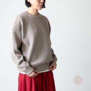 crepuscule (クレプスキュール) moss stitch L/S sweat for woman / モススティッチロングスリーブスウェットレディースサイズ