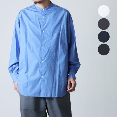 Graphpaper (グラフペーパー) Broad Band Collar Oversized Shirt / ブロードバンドカラー オーバーサイズシャツ
