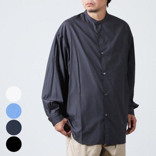 Graphpaper (グラフペーパー) Broad L/S Oversized Band Collar Shirt / オーバーサイズドバンドカラーシャツ