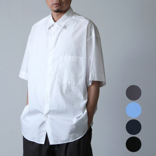Graphpaper (グラフペーパー) Broad Oversized S/S Shirt / ブロードオーバーサイズショートスリーブシャツ
