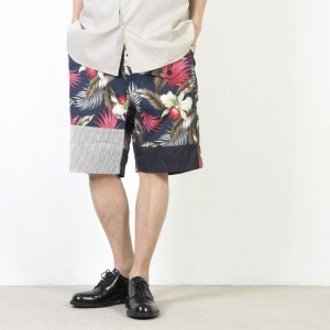 ENGINEERED GARMENTS (エンジニアードガーメンツ) Ghurka Short - Hawaiian Floral Java Cloth / グルカショート