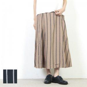 kelen (ケレン) Design Tuck Skirt Emma Stripe / デザインタックスカートエマストライプ