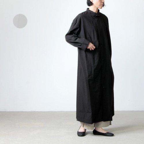 THE HINOKI (ザ ヒノキ) コットンボイルパラシュートクロス スタンドアップカラーシャツドレス