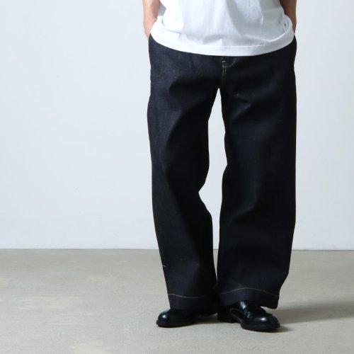STUDIO NICHOLSON (スタジオニコルソン) BLAKE VOLUME PANTS WASHED DENIM / ボリュームパンツ ウォッシュドデニム